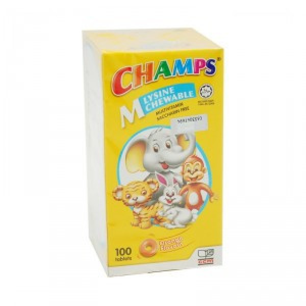 Champs Multivitamin Lysine (Orange) 100s