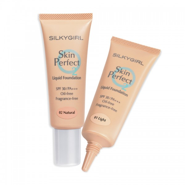 SILKYGIRL SKIN PERFECT LIQUID FOUNDATION SPF30 01 LIGHT