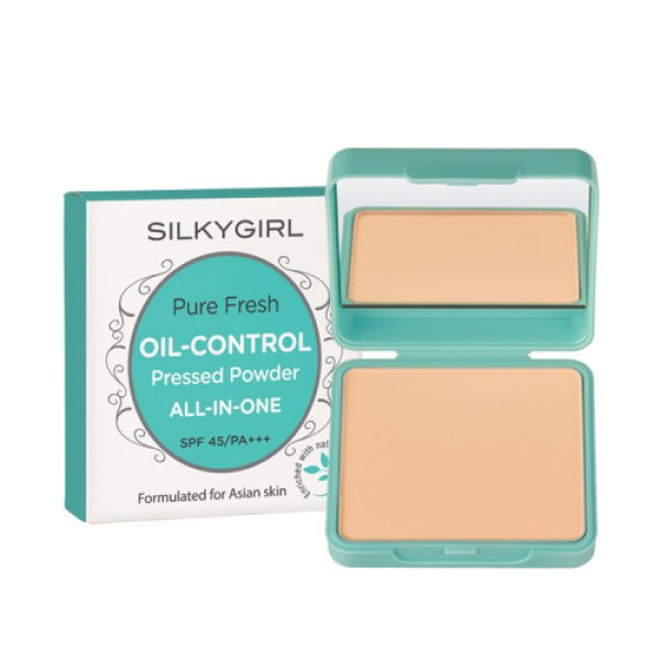 SILKYGIRL PURE FRESH OIL CONTROL PRESSED POWDER 01 FAIR