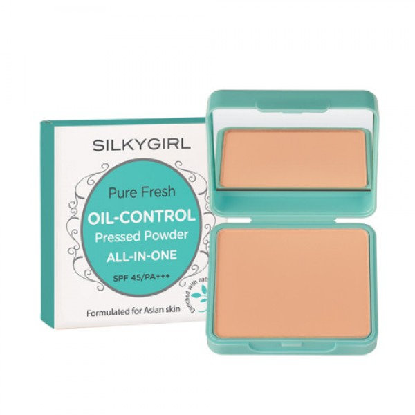 SILKYGIRL PURE FRESH OIL CONTROL PRESSED POWDER 03 ROSE BEIGE