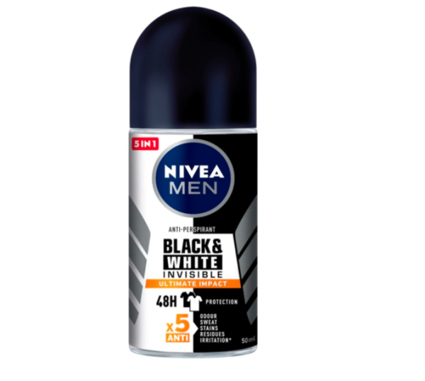 Nivea NID 85392 Deodorant Male Black & White Ultimate Impact RO 50ml (NEW)