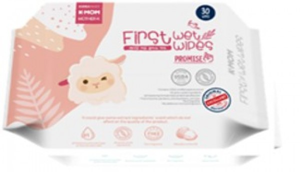 K-Mom First Wet Wipes Promise 30S (Sheep)