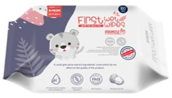 K-Mom First Wet Wipes Promise100S (Tiger)