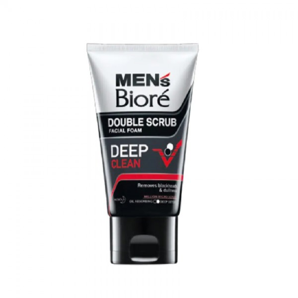 Biore Men's Double Scrub Deep Clean 100G