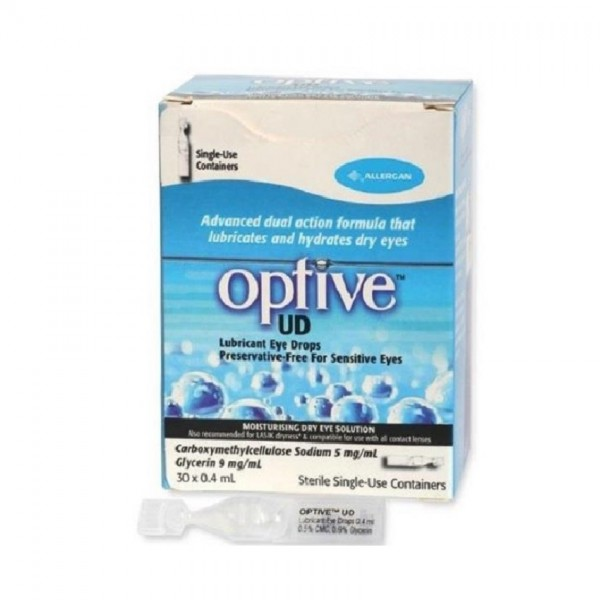 Allergan Optive UD Eye Drops (30 Vials x 0.4ml)