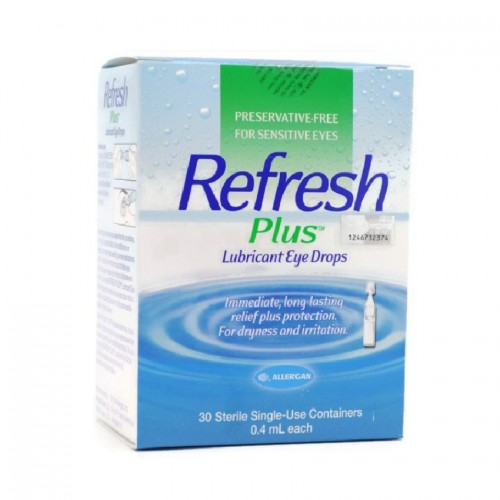 Allergan Refresh Plus Eye Drops (30 Vials x 0.4ml)