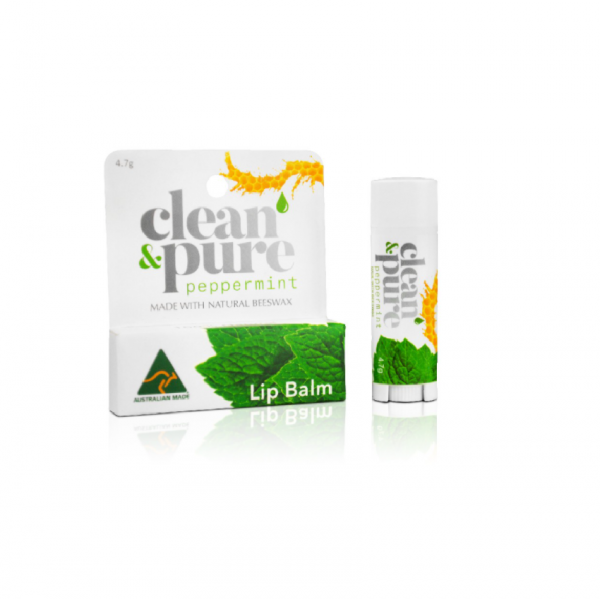 Clean & Pure Lip Balm Peppermint 4.7G
