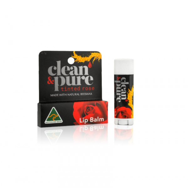 Clean & Pure Lip Balm Tinted Rose 4.7G