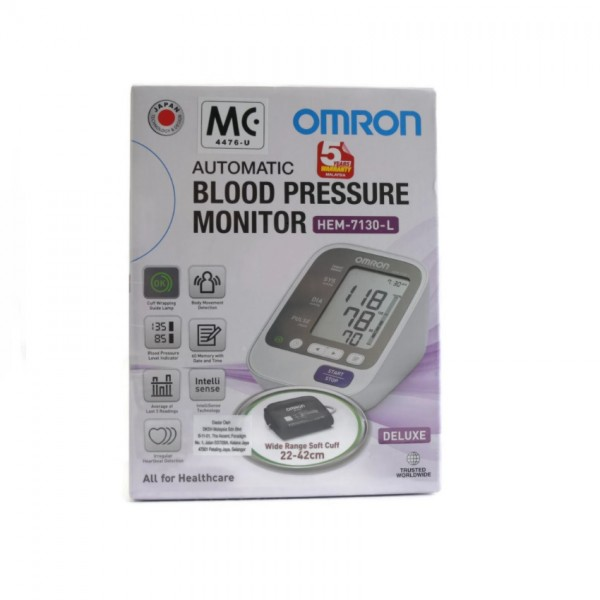 Omron Blood Pressure Monitor Hem-7130L (Large Cuff)