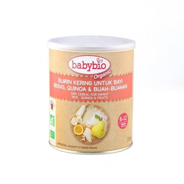 Babybio Organic Rice, Quinuo & Fruits Infant Cereal 220g