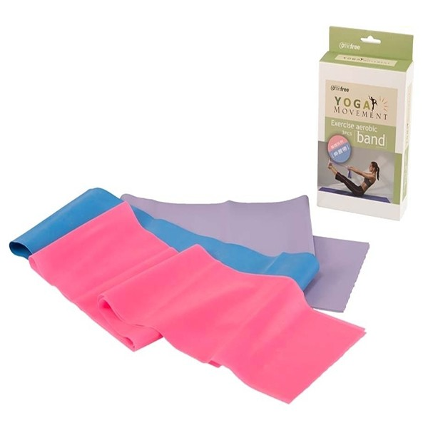 Comefree Yoga Movement Exercise Aerobic 3Pcs Band (Cf-862-Tw)