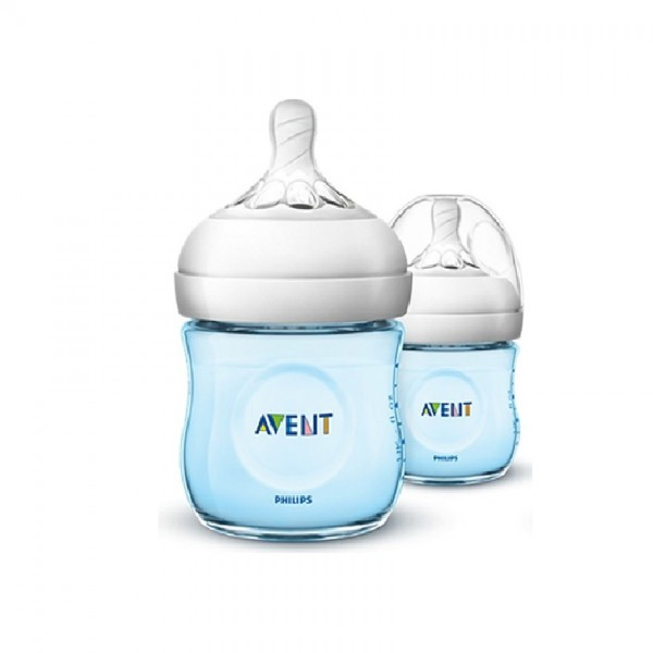 Avent Natural Bottle Blue 125Ml X2 (Scf691/23)