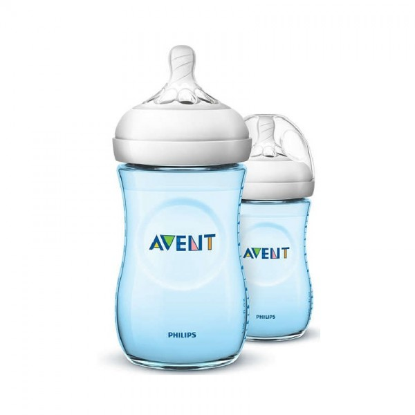 Avent Natural Bottle Blue 260Ml X2 (Scf695/23)