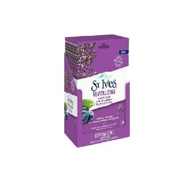 St. Ives Revitalizing Acai Sheet Mask 10S