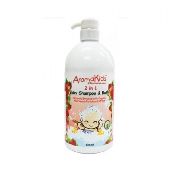 Aroma Kids 2 In 1 Baby Shampoo & Bath 1000Ml Strawberry