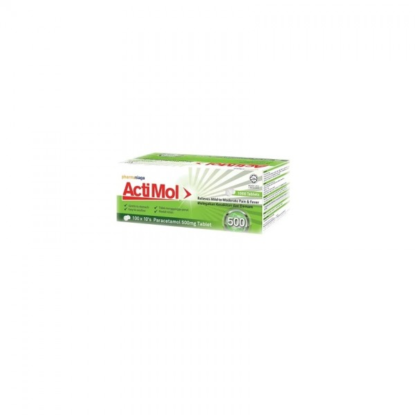 Actimol Tablet 500Mg 100 X 10S