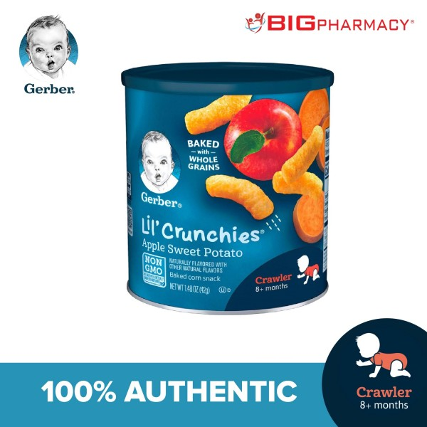 Gerber Lil Crunchies Apple Sweet Potato 42g