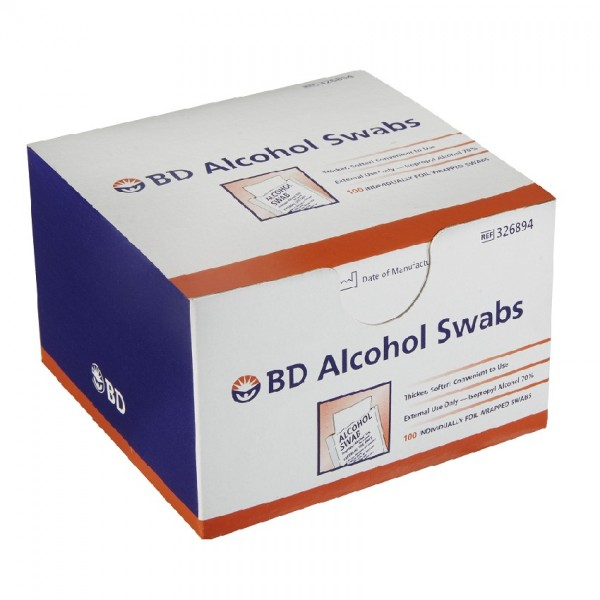 BD Alcohol Swabs 100S