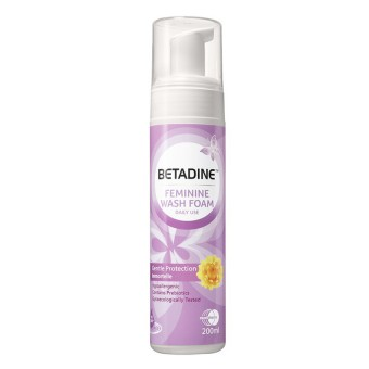 Betadine Daily Feminie Wash 200ml (Pump Foam)