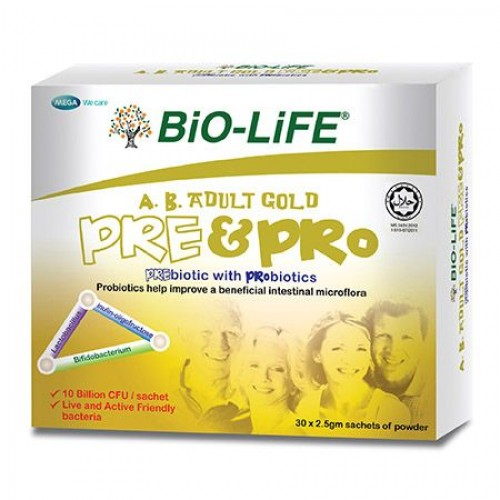 BiO-LIFE A.B. Adult Gold Pre & Pro (30's x 2)