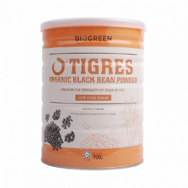 Biogreen O'Tigres Organic Low Sugar Black Bean Powder (700g)