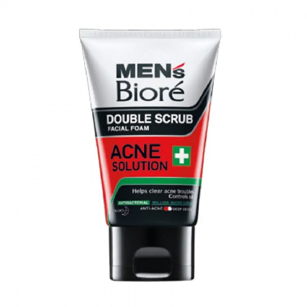 Biore Mens Double Scrub Acne Solution 100g