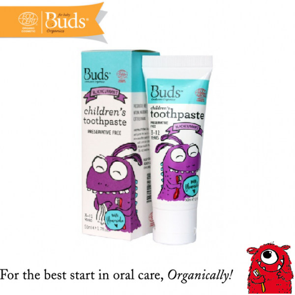Buds Children Toothpaste (3-12 Years Old) Blackcurrent 50ML