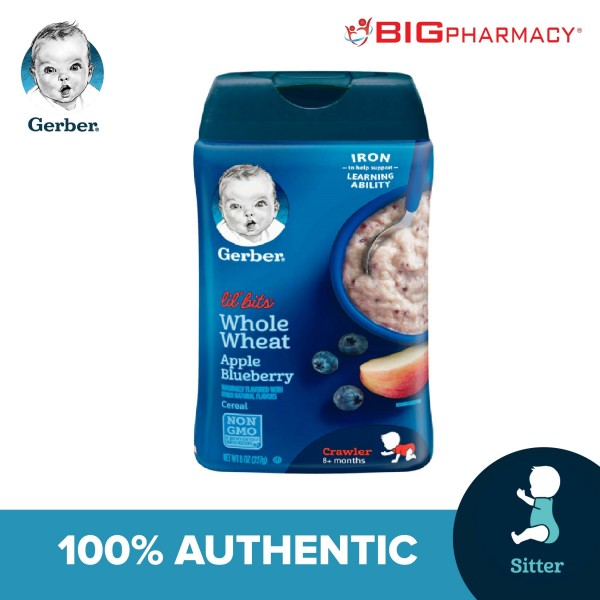 Gerber Lil Bits Cereal Whole Wheat Apple Blueberry