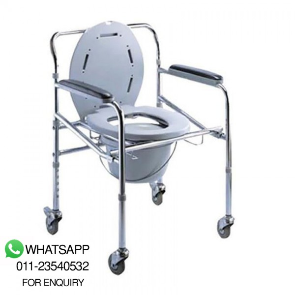 Green City Commode Chair With Bucket 696 (4 Wheel) (Cm696), Order 121685