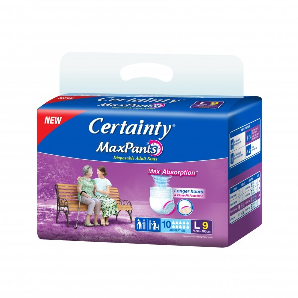 CERTAINTY MAX PANTS REGULAR PACK (L) 9SX8