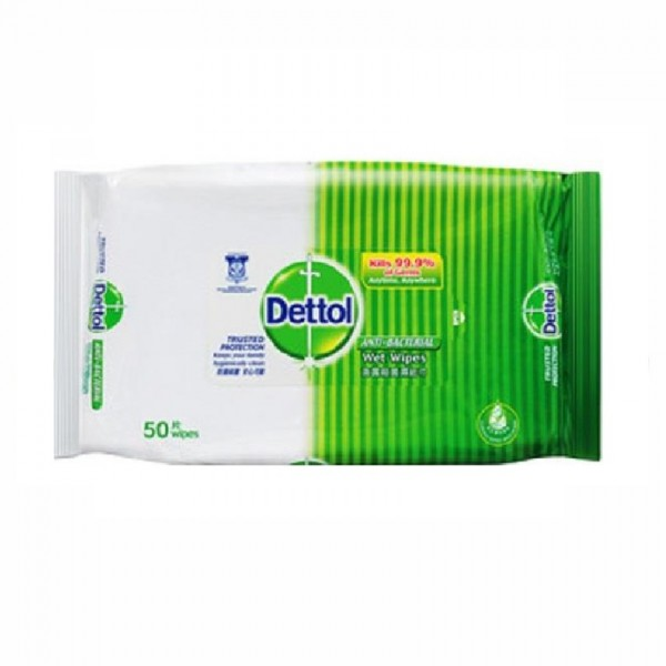 Dettol Anti Bacterical Wet Wipes (50's)