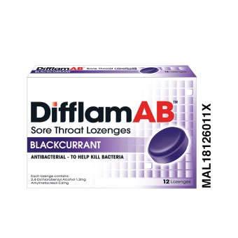 Difflam AB sore Throat Lozenges Blackcurrant 12s