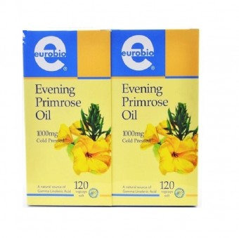 Eurobio Evening Primrose Oil 1000mg x 120sx2