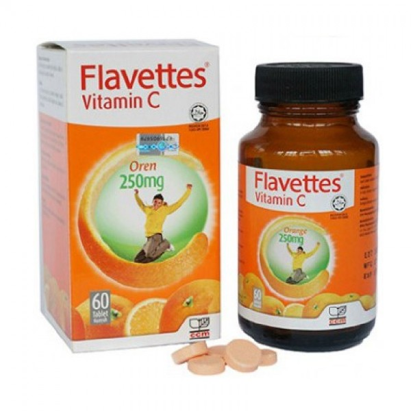 Flavettes Chewable Vitamin C - Orange (250mg x 60's)