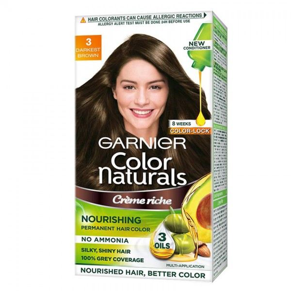 Garnier Color Naturals Cream 3 Darkest Brown