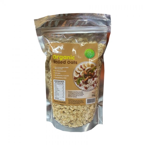 Green Paradise Organic Rolled Oats 400G