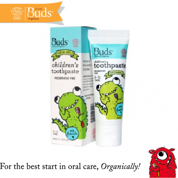 Buds Children Toothpaste (3-12 Years Old) Green Apple 50ML