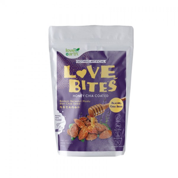 Love Earth Love Bites Honey Almond Chia Seed 40G