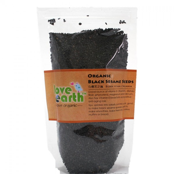 Love Earth Organic Black Sesame Seed 200G
