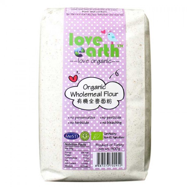 Love Earth Organic Wholemeal Flour 900G