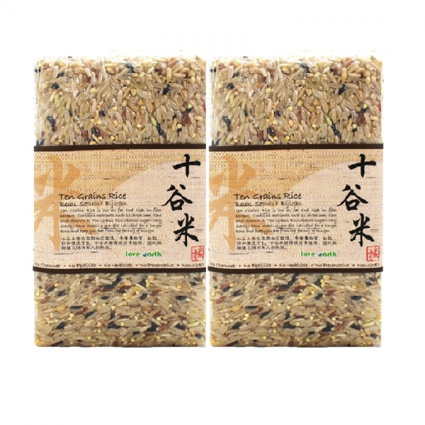 LOVE EARTH TEN GRAIN RICE 2X1KG (TWINPACK)