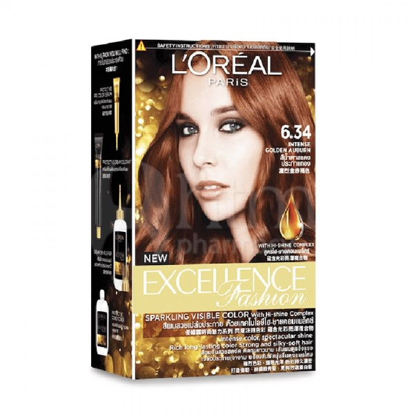 L'Oreal Excellence Fashion - Intense Golden Auburn 6.34