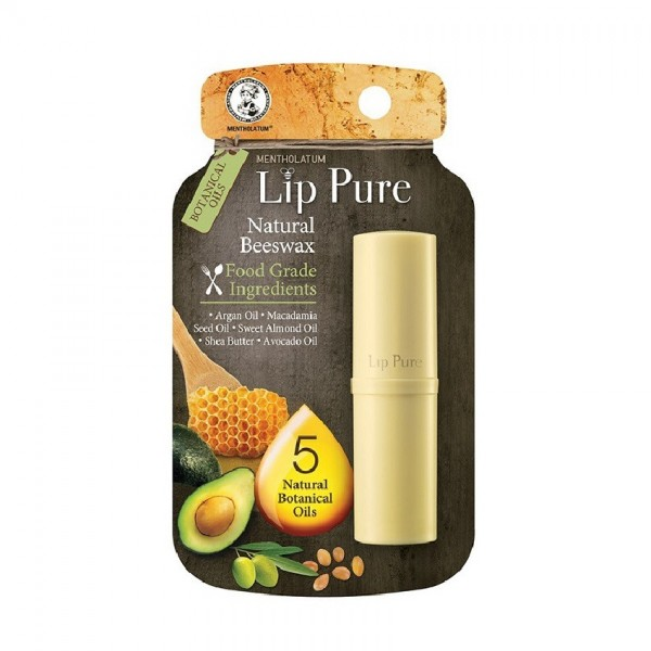 MENTHOLATUM LIP PURE LIPBALM WITH NEW ESSENTIAL OILS (FF) 4G