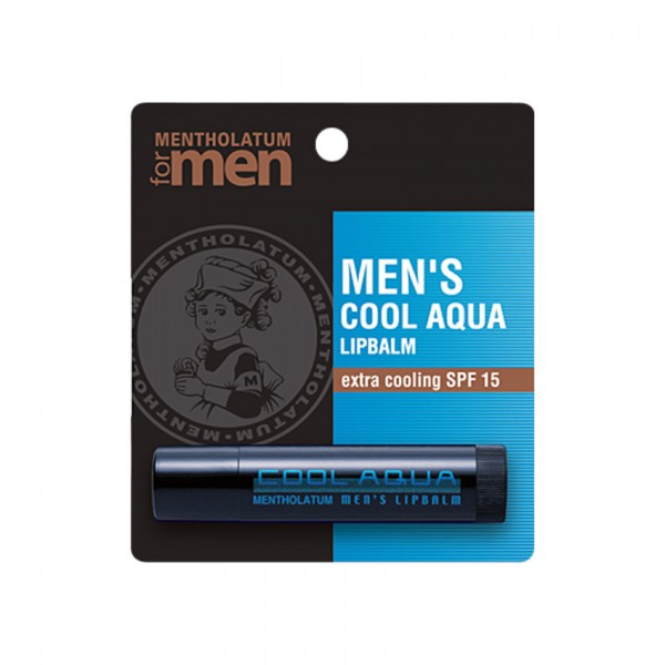 Mentholatum Men Cool Aqua Lip Balm (Tube) 3.5G