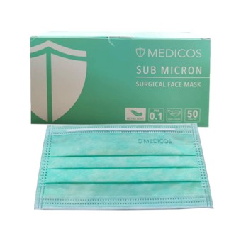 Medicos Lumi series sub Micron surgical Face Mask (Ear Loop- Neon Green For Adult) 50s