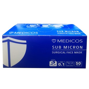 Medicos 3 Ply Surgical Face Mask (Earloop) 50S