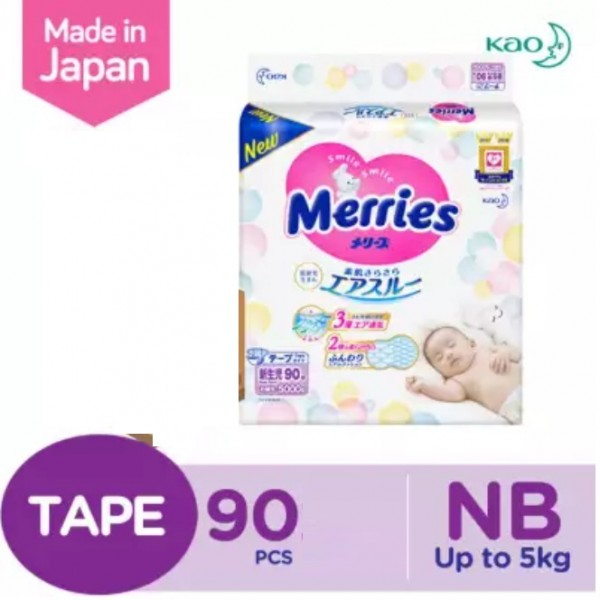 Merries Super Premium New Born 90S