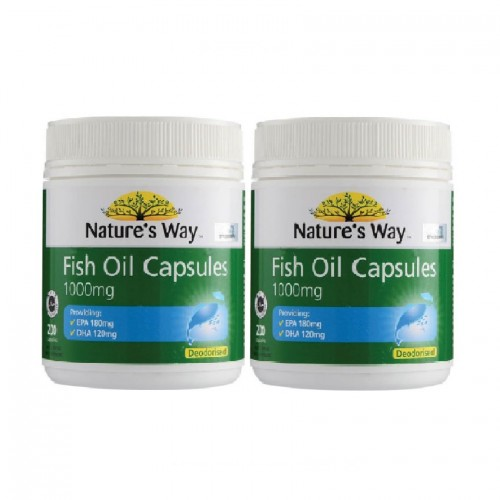 NATURES WAY FISH OIL 1000MG 200S x 2