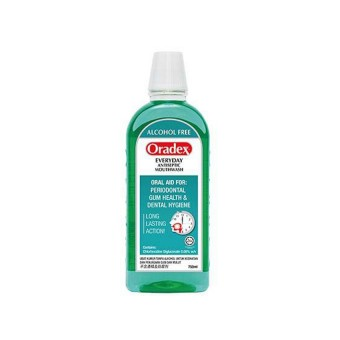 Oradex Everyday Antiseptic Mouthwash 750ml