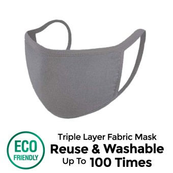 Offen 3 Ply Reusable Fabric Mask (Grey - M size) 1s
